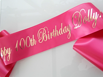 100th Birthday Sash